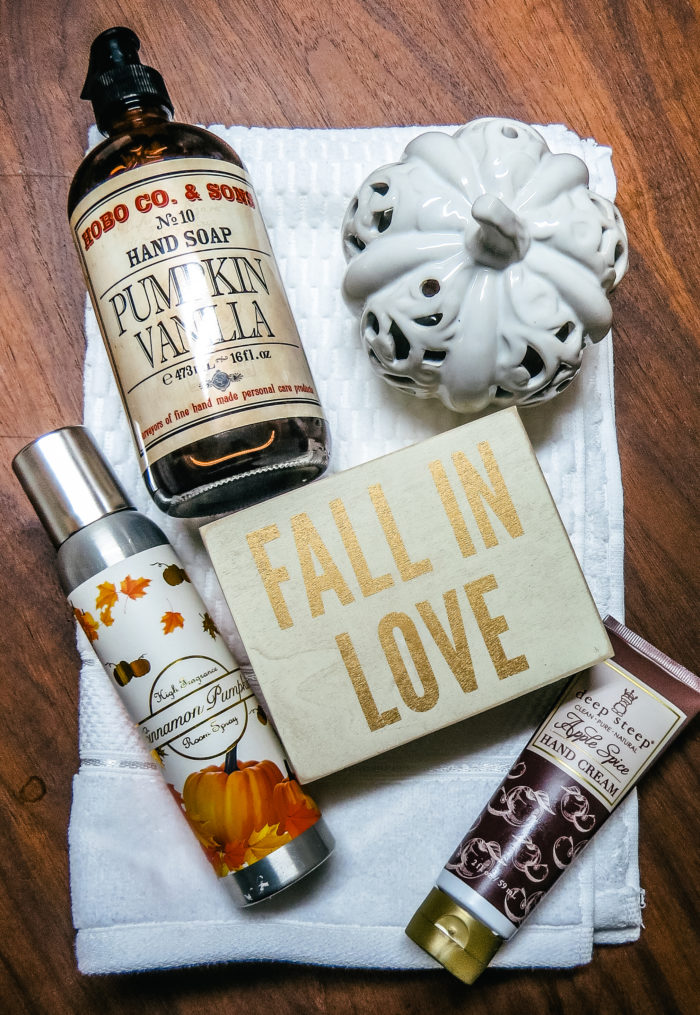 preparing your guest bathroom for fall