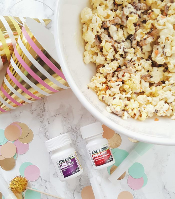 Migraines & White Chocolate Popcorn Mix