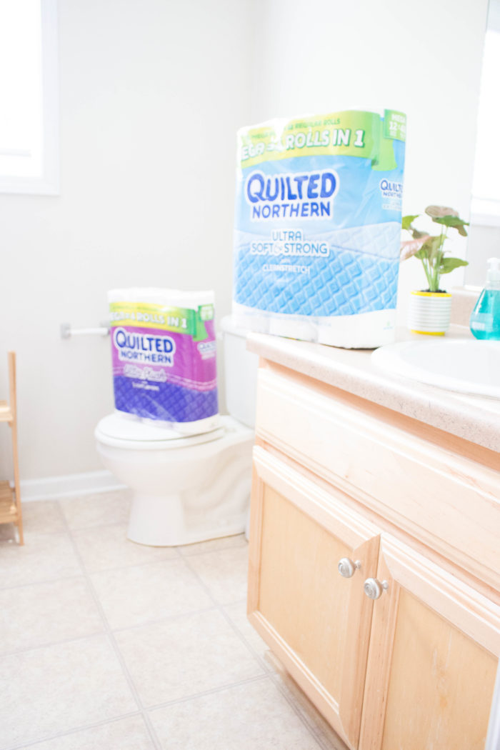 Guest bathroom renter-friendly refresh
