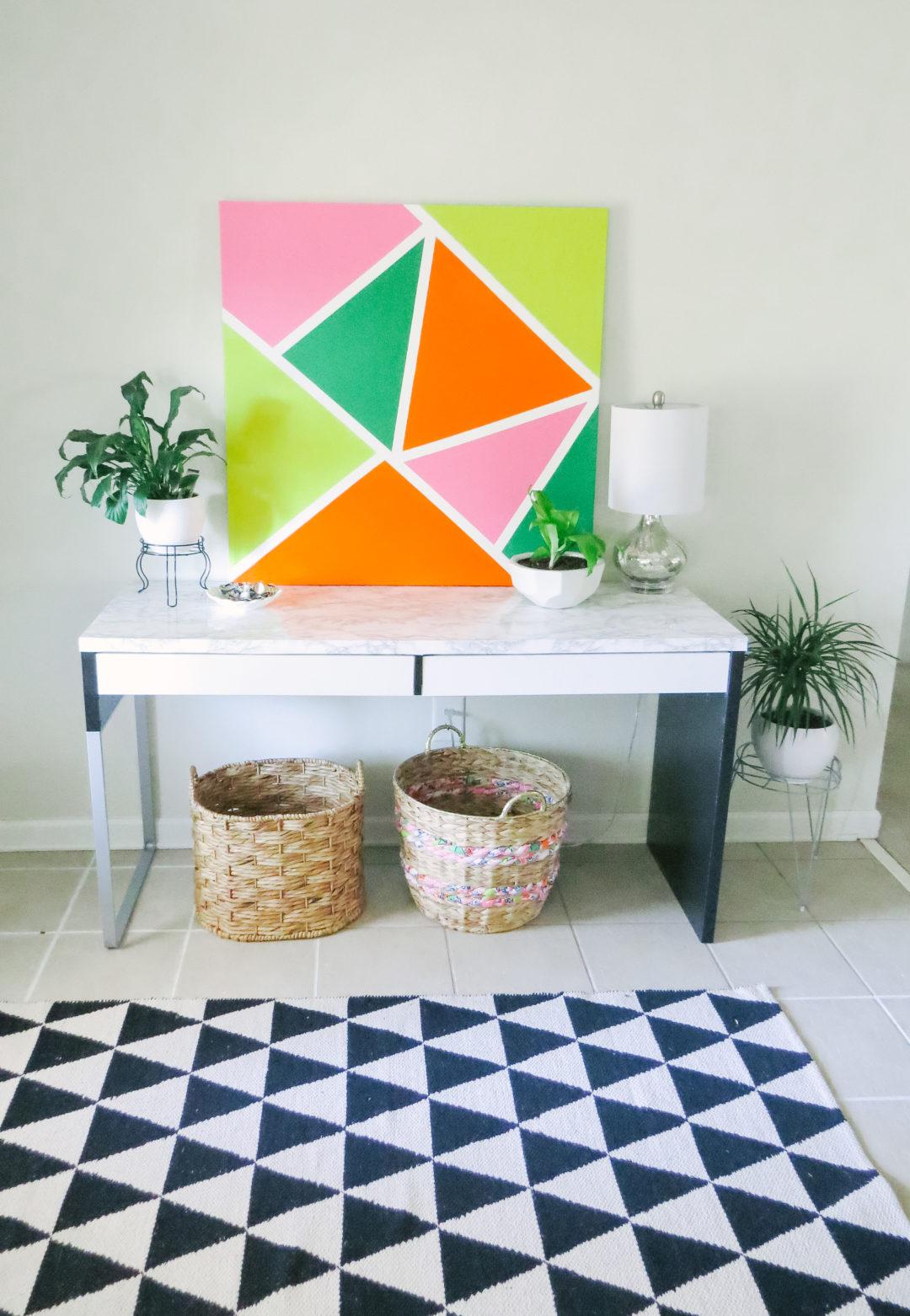 Wall Decoration Ideas - DIY Abstract Painting • Carla ...