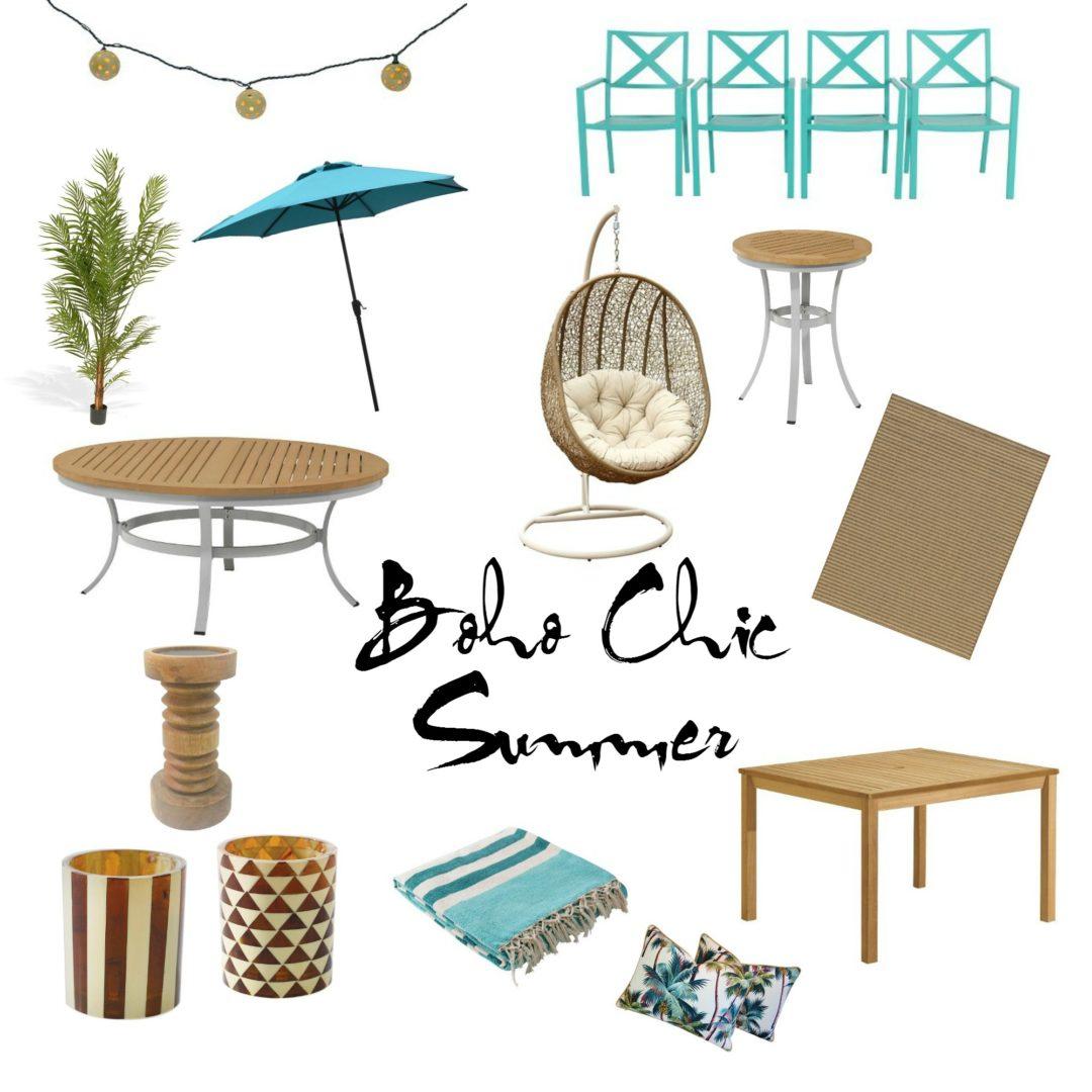 Boho Chic Summer Patio Carla Bethany Interior Design Blog
