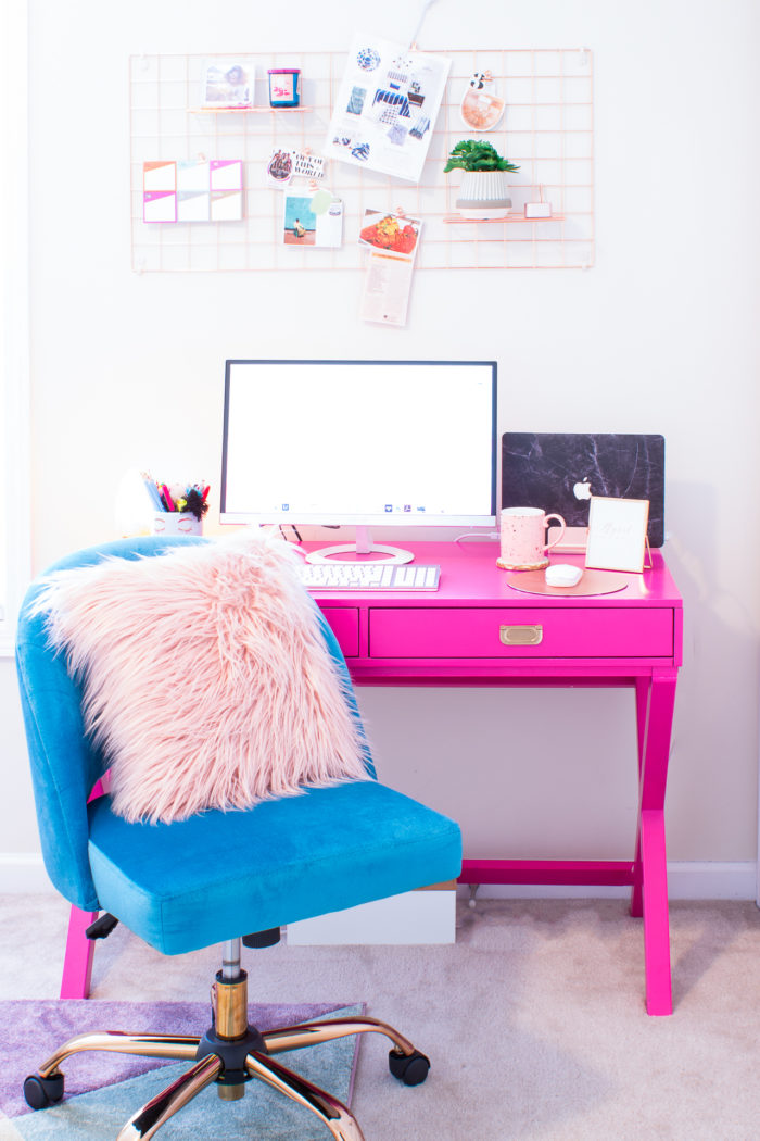 My Bright & Cheerful Home Office Makeover • CARLA BETHANY