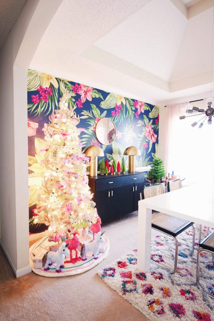 Colorful Whimsical Christmas Carla Bethany Interior Design Blog